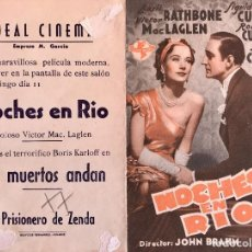 Cine: NOCHES DE RIO -DOBLE- IDEAL CINEMA (BENICARLÓ). Lote 90373080
