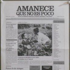 Cine: AMANECE QUE NO ES POCO VESPA JOSE LUIS CUERDA PROGRAMA ESPECIAL ORIGINAL ESTRENO. Lote 101041862