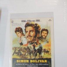Cine: SIMON BOLIVAR - FOLLETO MANO - MAXIMILIAN SCHELL ROSANNA SCHIAFFINO PACO RABAL IMPRESO . Lote 91484190