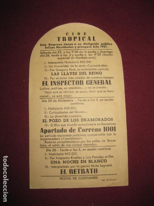 Cine: EL INSPECTOR GENERAL. WARNER BROS. PROGRAMA.DE CINE: CINE TROPICAL 1951 - Foto 2 - 91725340
