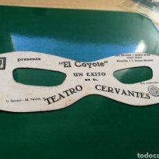Cine: PROGRAMA DE CINE TROQUELADO. EL COYOTE. ANTIFAZ. CON PUBLICIDAD. Lote 91745529