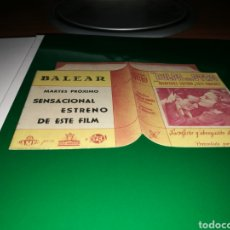 Cine: PROGRAMA DE CINE TROQUELADO. LA CULPA DEL OTRO. CON PUBLICIDAD TEATRO BALEAR. Lote 102546523