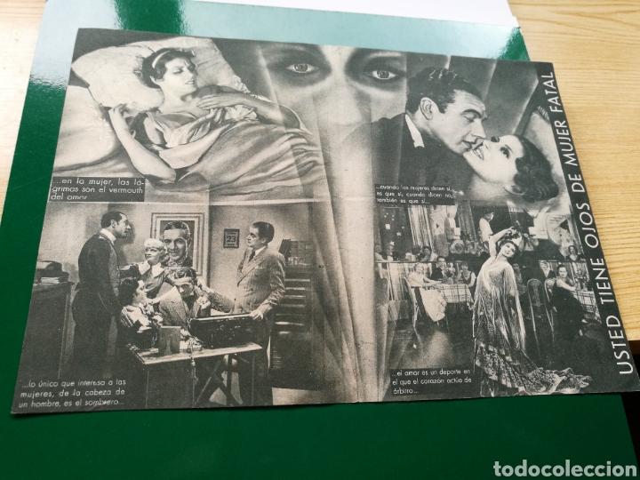 Cine: Programa de cine doble. Usted tiene ojos de mujer fatal. Años 30. Con publicidad cine Salamanca - Foto 2 - 92037480