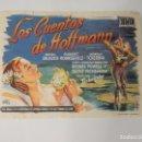 Cine: CUENTOS DE HOFFMANN - FOLLETO MANO MOIRA SHEARER MICHAEL POWELL MERCURIO FILMS IMPRESO CINE PICAROL. Lote 92134465