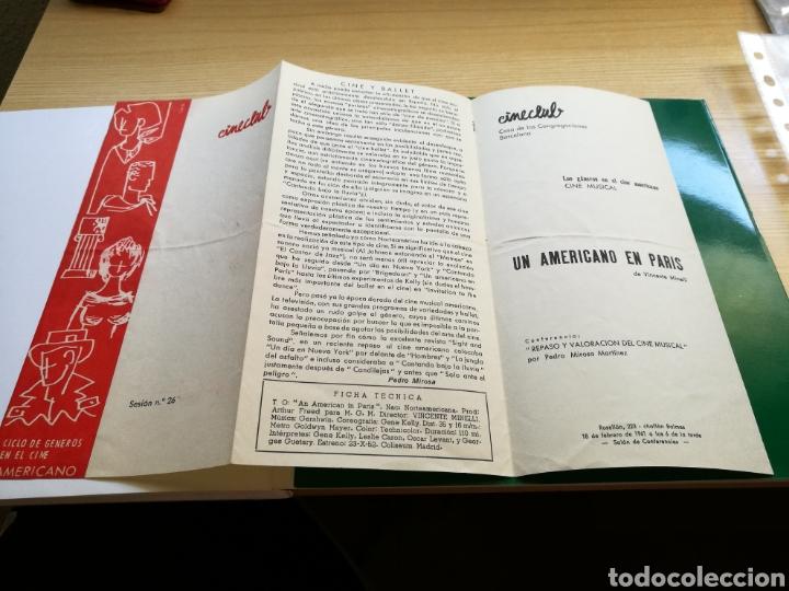 PROGRAMA DE CINECLUB DE BARCELONA. 1961. UN AMERICANO EN PARÍS (Cine - Folletos de Mano - Musicales)