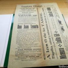 Cine: PROGRAMA DE CINE Y TEATRO DEL TEATRO CHAPÍ DE VILLENA (ALICANTE). AÑOS 10. Lote 92439544