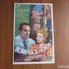 Cine: PROGRAMA DE CINE FOLLETO DE MANO BORRASCA DE CELOS DEL 1948 CON PUBLICIDAD VER FOTOS. Lote 92738965