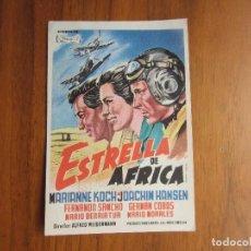 Cine: PROGRAMA DE CINE FOLLETO DE MANO LA ESTRELLA DE AFRICA AÑOS 50 CON PUBLICIDAD VER FOTOS. Lote 92740290
