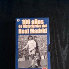 Cine: 100 AÑOS DEL REAL MADRID, VHS (10 CINTAS + 2 DE REGALO). Lote 93198140