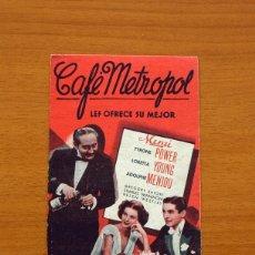 Cine: CAFÉ METROPOL - TYRONE POWER, LORETTA YOUNG . Lote 93339175