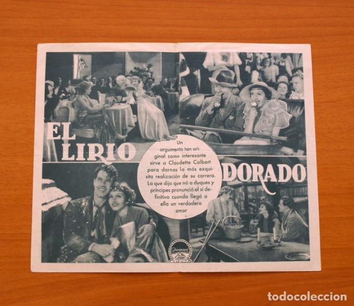 Cine: El lirio dorado - Claudette Colbert, Fred Mac Murray, Ray Milland - Publicidad, Teatro Atlante - Foto 2 - 93357810