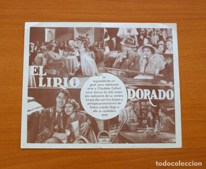 Cine: El lirio dorado - Claudette Colbert, Fred Mac Murray, Ray Milland - Publicidad, Coliseum - Foto 2 - 93357860