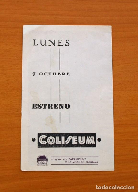 Cine: El lirio dorado - Claudette Colbert, Fred Mac Murray, Ray Milland - Publicidad, Coliseum - Foto 4 - 93357860