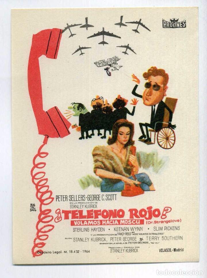 TELÉFONO ROJO, VOLAMOS HACIA MOSCÚ, CON PETER SELLERS. S/I. (Cine - Folletos de Mano - Comedia)