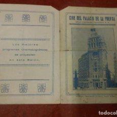 Cine: 1931 PROGRAMA DE CINE FOLLETO MICKEY MOUSE BOMBERO EL DIABLO BLANCO - PALACIO DE LA PRENSA MADRID. Lote 93382815