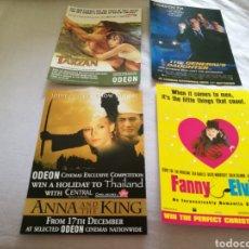 Cine: CUATRO PROGRAMAS DE CINE INGLESES DE LOS AÑOS 90. ANA Y EL REY, FANNY, TARZAN Y LA HIJA DEL GENERAL. Lote 93582850