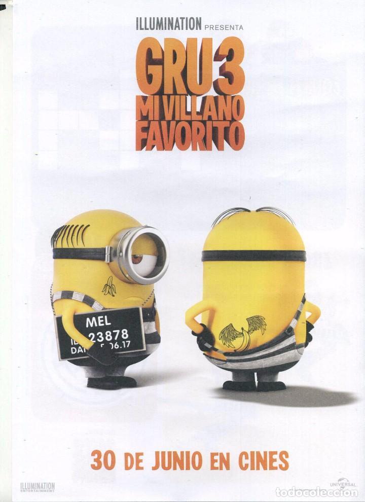 GRU 3, MI VILLANO FAVORITO. 21 X 29,5 CMS. (Cine - Folletos de Mano - Infantil)