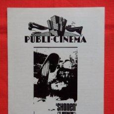 Cine: SHONEN EL MUCHACHO, PROGRAMA DOBLE 1972, FUMIO WATANABE, PUBLI CINEMA. Lote 93688635