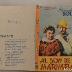 Cinema - FOLLETO MANO CINE AL SON DE LA MARIMBA CON SELLO CINE NORBA - 93764865