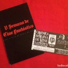 Cine: LIBRO GUÍA 5ª SEMANA CINE FANTÁSTICO DE MALAGA. Lote 93966328