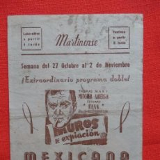 Cine: MUROS DE EXPIACION, LOCAL, THOMAS MITCHELL MARY ANDERSON, MARTINENSE. Lote 94045320