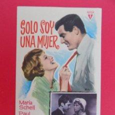 Cine: FOLLETO, PROGRAMA CINE- SOLO SOY UNA MUJER- AÑO 1962 - RADIO FILMS...R- 6827. Lote 94452062