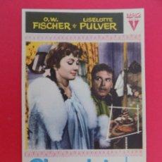 Cine: FOLLETO, PROGRAMA CINE- CHOCOLATE PARA DOS - AÑO 1958 - RADIO FILMS - ORIGINAL -...R- 6828. Lote 94452390