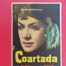 Cine: FOLLETO, PROGRAMA CINE- COARTADA - AÑO 1965 - HISPANO FOX FILMS - ORIGINAL -...R- 6829. Lote 94452830