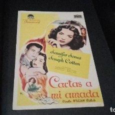 Cine: PROGRAMA DE MANO ORIG - CARTAS A MI AMADA - CON PUBLIC CINE VITORIA ( PEDIDO MINIMO 5 EUROS ). Lote 94972387