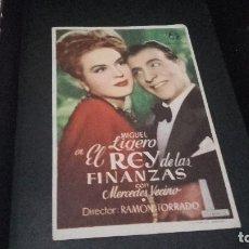 Cine: PROGRAMA DE MANO ORIGINAL- EL REY DE LAS FINANZAS - SIN PUBLICIDAD( PEDIDO MINIMO 5 EUROS ). Lote 95054191