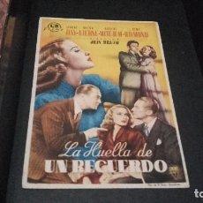 Cine: PROGRAMA DE MANO ORIGINAL - LA HUELLA DE UN RECUERDO- CON PUBLICIDAD( PEDIDO MINIMO 5 EUROS ). Lote 95058991