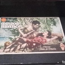 Cine: PROGRAMA DE MANO ORIGINAL - MISIÓN BLANCA - CON PUBLICIDAD ( PEDIDO MINIMO 5 EUROS ). Lote 95150231