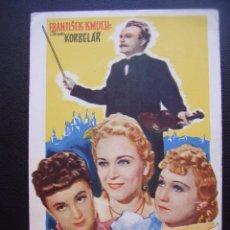 Cine: FOLLETO DE CINE CHECOSLOVACO DE 1940, OTOMAR KORBELAR. Lote 95473895