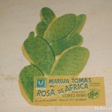 Cine: PROGRAMA DE CINE-TROQUELADO-ROSA DE AFRICA-MARUJA TOMAS. Lote 95547903