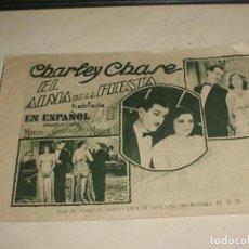 Cine: EL ALMA DE LA FIESTA PROGRAMA DOBLE MGM CHARLEY CHASE. Lote 95548579