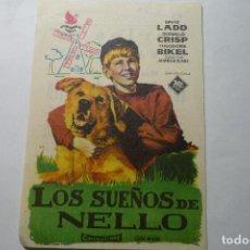 Cine: PROGRAMA LOS SUEÑOS DE NELLY -PUBLICIDAD. Lote 95549711
