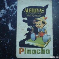 Cine: ALELUYAS DE LA PELICULA WALT DISNEY ---PINOCHO --AUTORIZADO POR RADIO FILMS. Lote 95570515