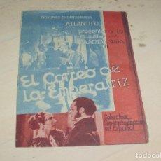 Cine: EL CORREO DE LA EMPERATRIZ FOLLETO DE MANO DOBLE 1940. CINE IMPRESO.. Lote 95579891