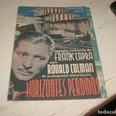 Cine: HORIZONTES PERDIDOS, CON RONALD COLMAN. C/I.. Lote 95585423
