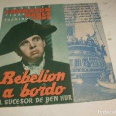 Cine: REBELION A BORDO PROGRAMA DOBLE MGM CLARK GABLE- AÑOS 30. Lote 95588251