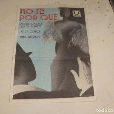 Cine: NO SE POR QUE- AÑOS 30. Lote 95594923