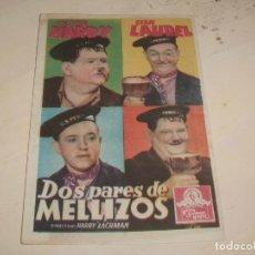 Cine: PROGRAMA O FOLLETO DE CINE CON PUBLICIDAD - DOS PARES DE MELLIZOS. Lote 95595599