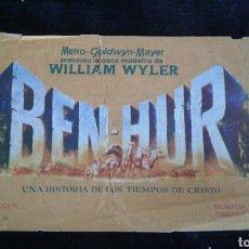 Cine: BEN-HUR FOLLETO DE MANO CINE MUNDIAL 1961. Lote 95608675