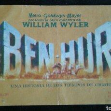 Cine: BEN-HUR FOLLETO DE MANO CINE ASTORIA 1961. Lote 95608711