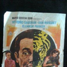 Cine: UN TIGRE EN LA RED FOLLETO DE MANO CINE TRIUNFO 1968. Lote 95608891