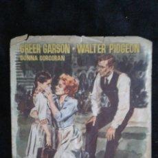 Cine: LA SEÑORA CHESNEY FOLLETO DE MANO CINES UNIVERSAL Y NACIONAL 1956. Lote 95609155