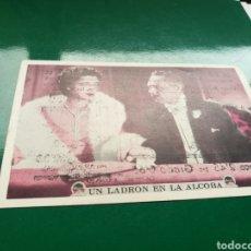 Cine: PROGRAMA DE CINE CARTÓN. UN LADRÓN EN LA ALCOBA. TEATRO DUQUE DE RIVAS. AÑOS 30. Lote 95631222