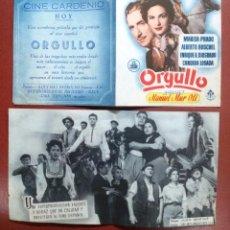 Cine: PROGRAMA ORGULLO (DOBLE) (MARISA PRADO - ALBERTO RUSCHEL ---CINE CARDENIO,AYAMONTE,HUELVA---. Lote 95798243