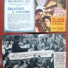 Cine: ZALACAIN EL AVENTURERO, CON VIRGILIO TEIXEIRA.---CINE CARDENIO,AYAMONTE,HUELVA---. Lote 95798331
