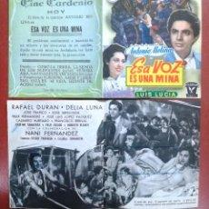Cine: PROGRAMA ESA VOZ ES UNA MINA (ANTONIO MOLINA RAFAEL DURÁN DELIA ---CINE CARDENIO,AYAMONTE,HUELVA---. Lote 95803792
